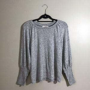 Loft Petite NWT Grey Ballon Sleeve Sweater
